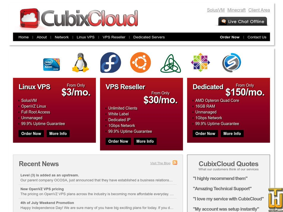 cubixcloud.com Screenshot