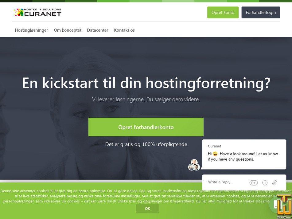 curanet.dk Screenshot