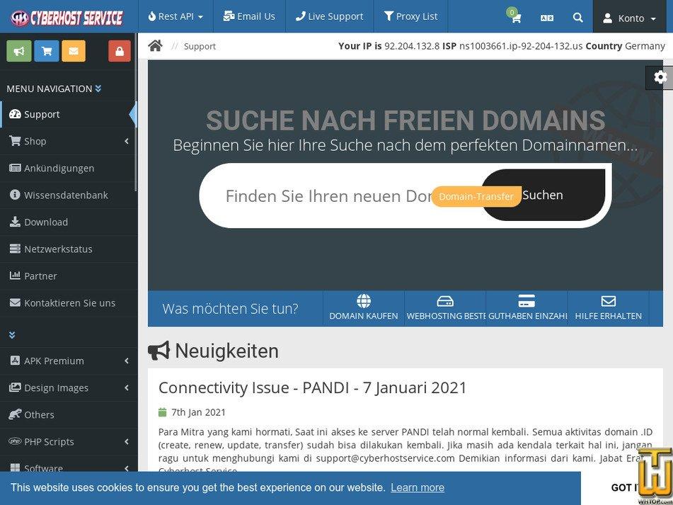cyberhostservice.com Screenshot