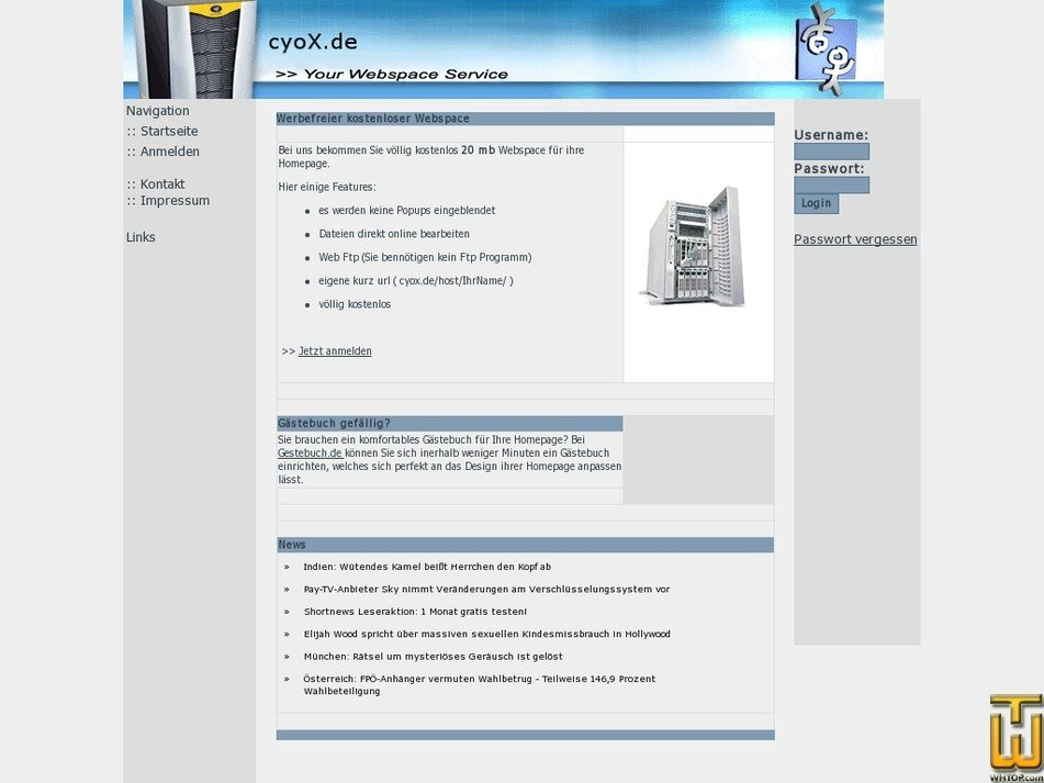 cyox.de Screenshot