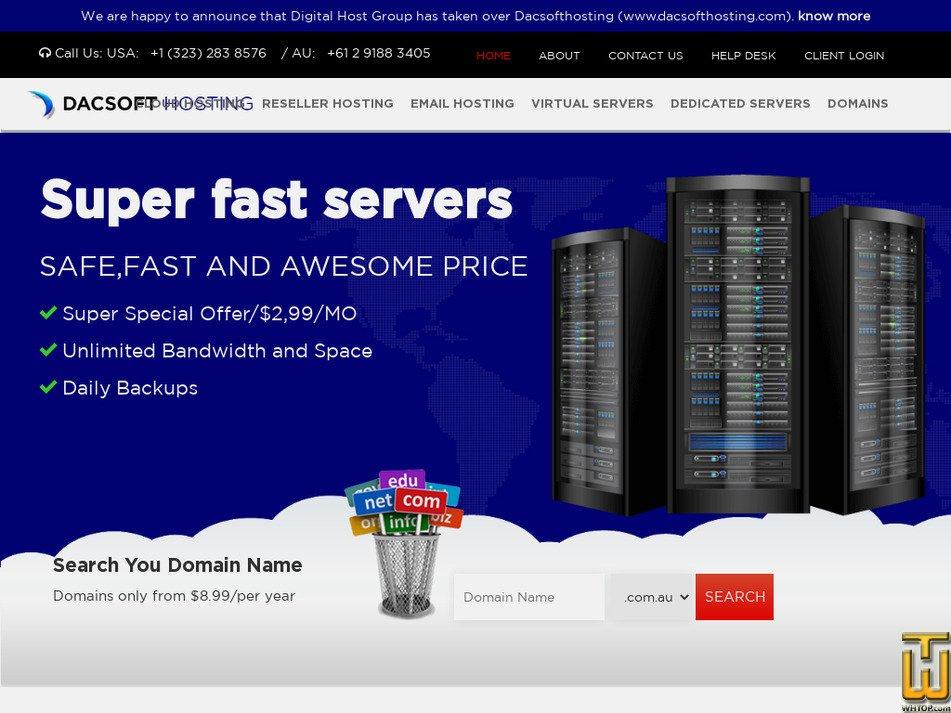dacsofthosting.com Screenshot