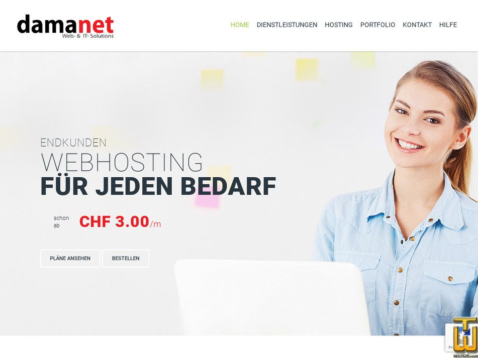 damanet.ch Screenshot