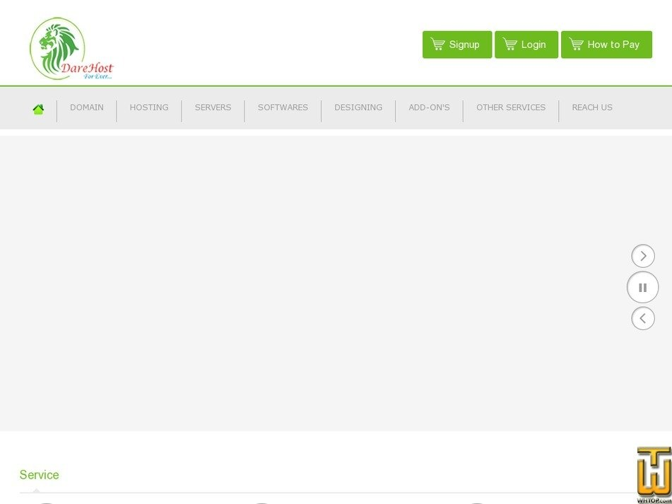 darehost.com Screenshot