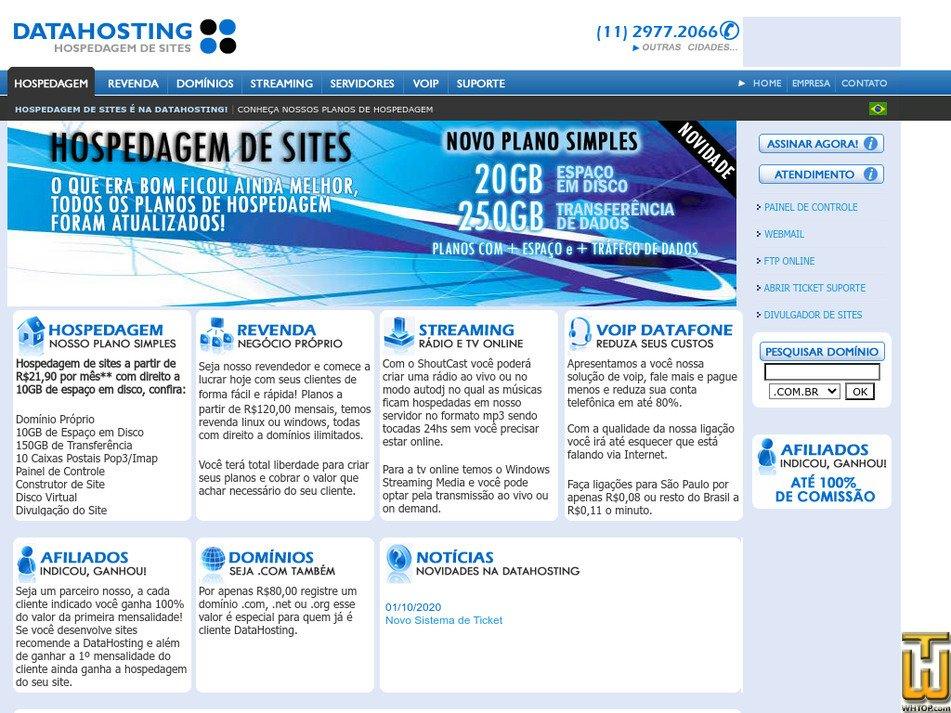 datahosting.com.br Screenshot