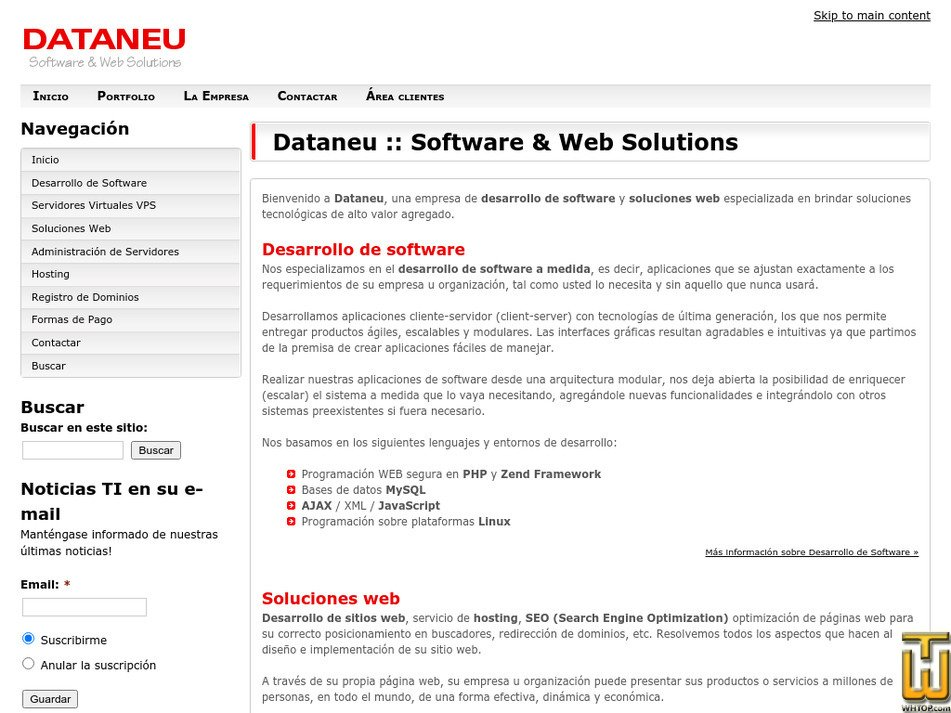 dataneu.com.ar Screenshot