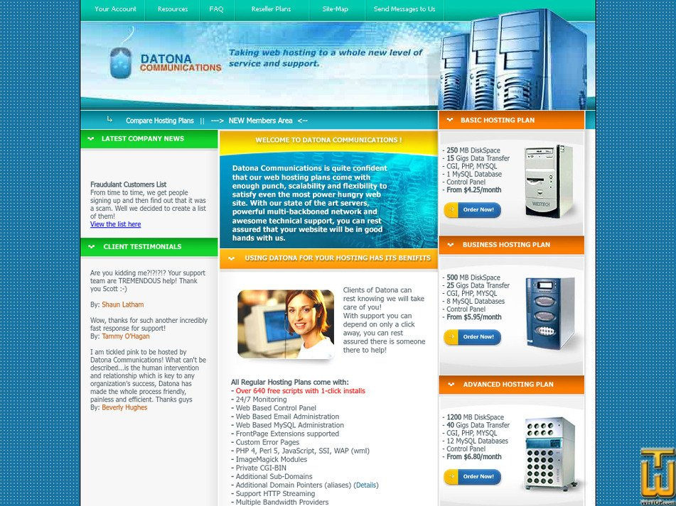 datona.com Screenshot