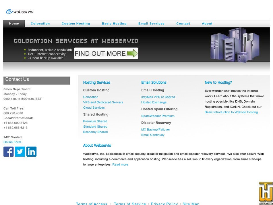 dcwebhost.com Screenshot