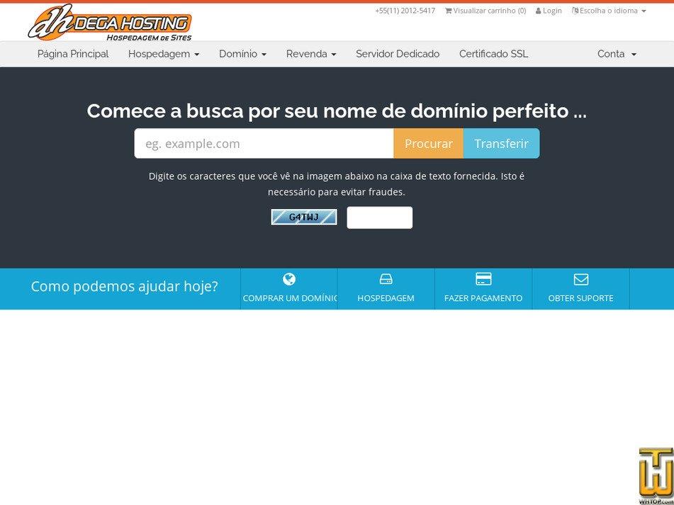 degahosting.com.br Screenshot