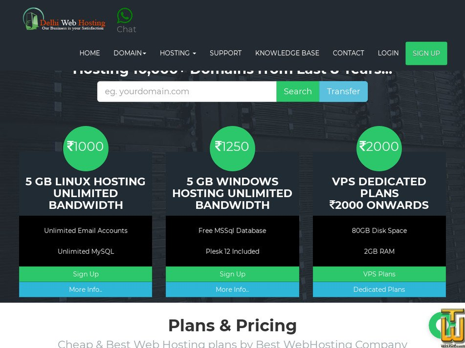 delhiwebhosting.co.in Screenshot
