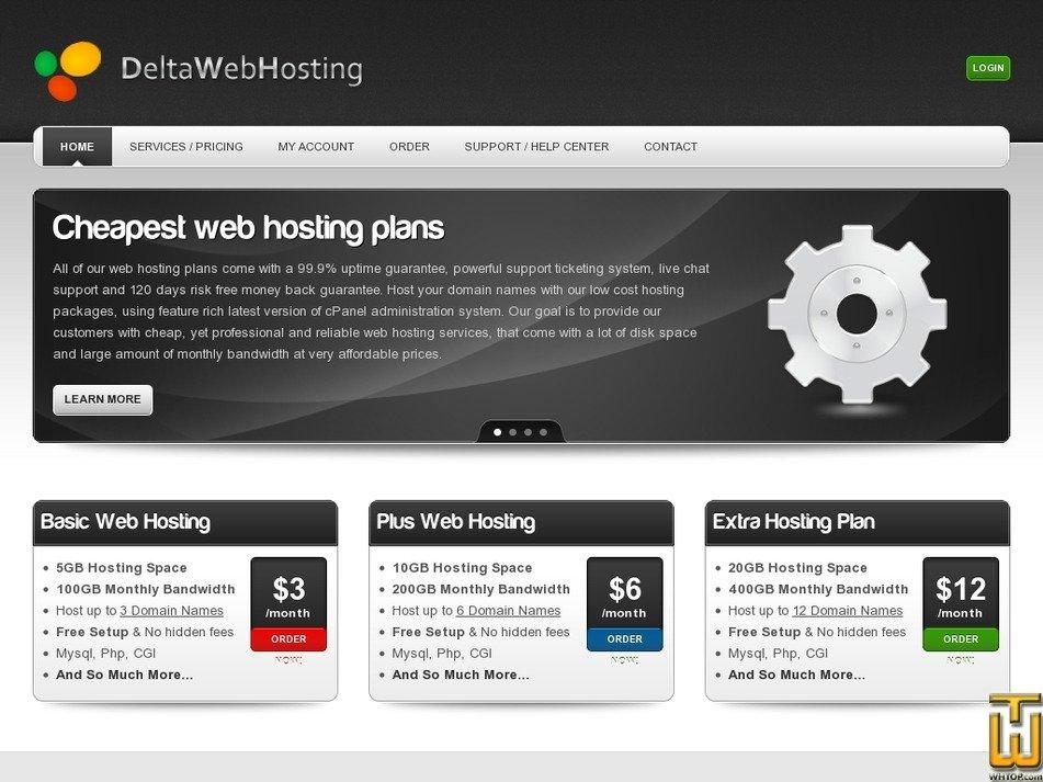 deltawebhosting.com Screenshot