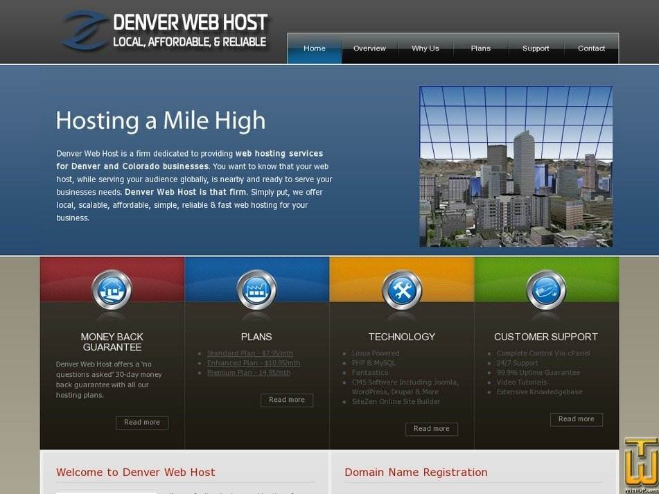 denverwebhost.com Screenshot