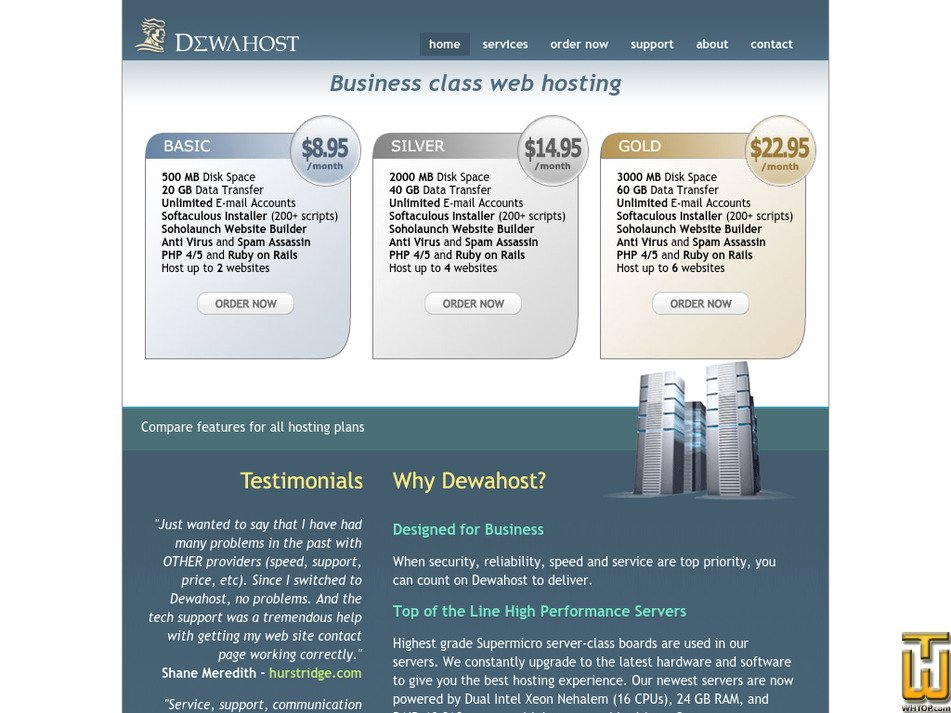 dewahost.com Screenshot