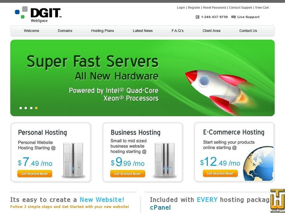 dgitwebspace.com Screenshot