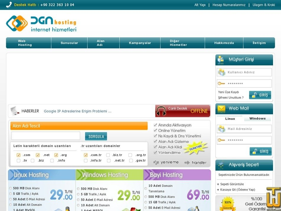 dgnhosting.net Screenshot