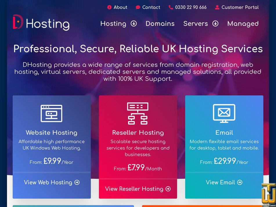 dhosting.uk Screenshot