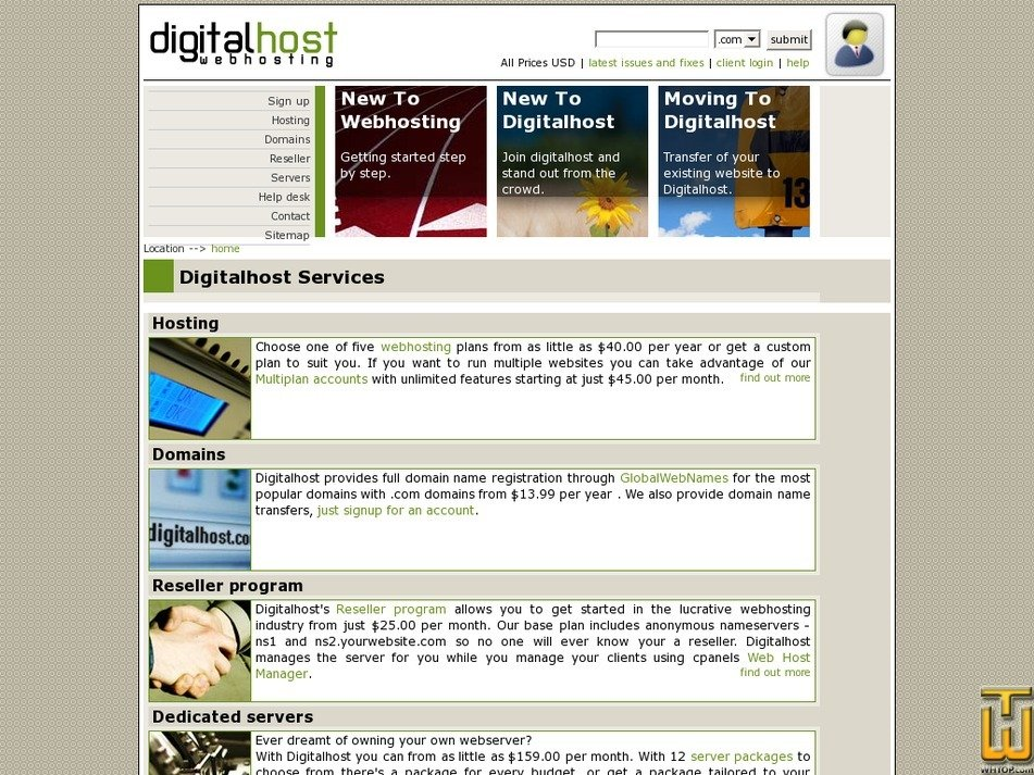 digitalhost.net Screenshot