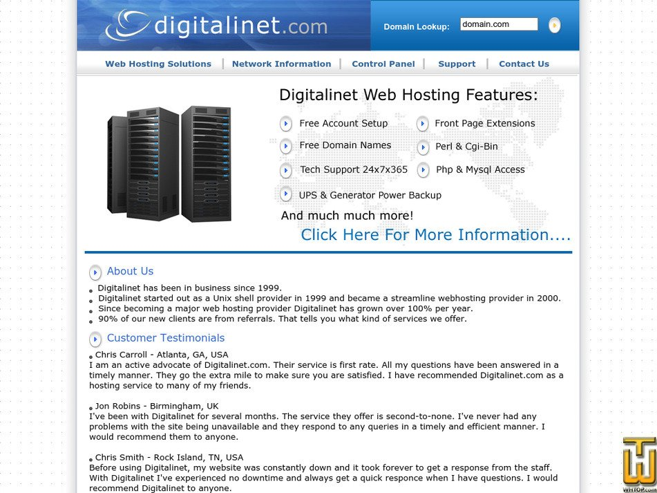digitalinet.com Screenshot