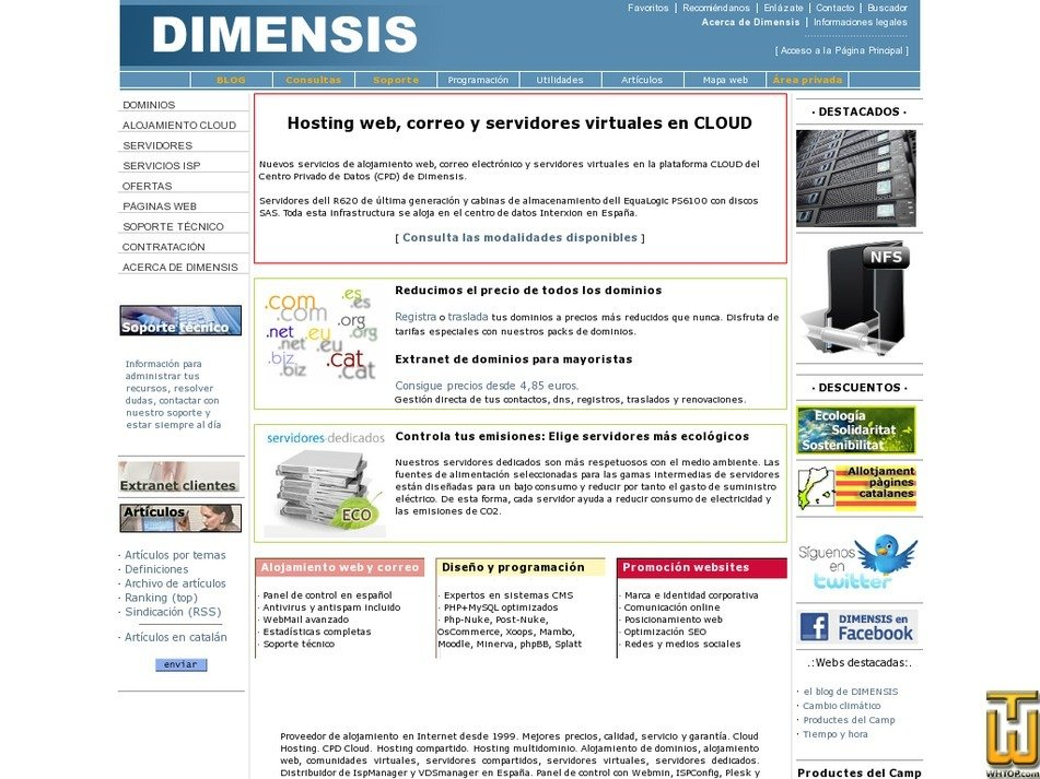 dimensis.com Screenshot