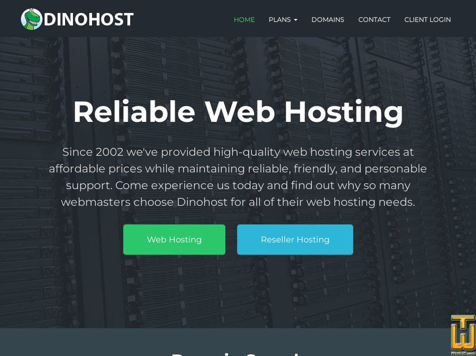 dinohost.com Screenshot