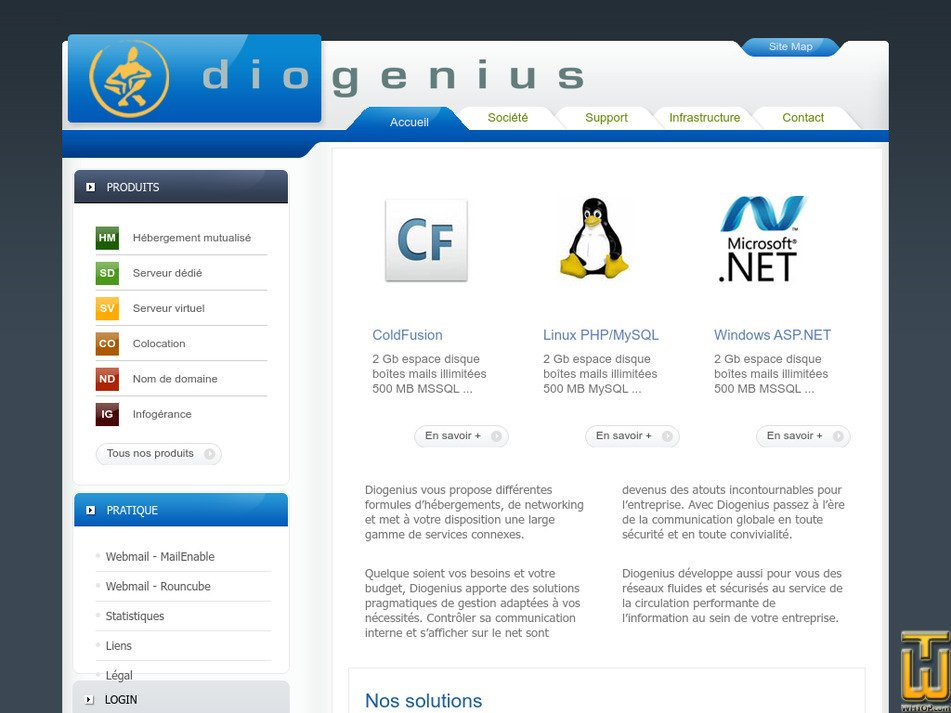 diogenius.net Screenshot