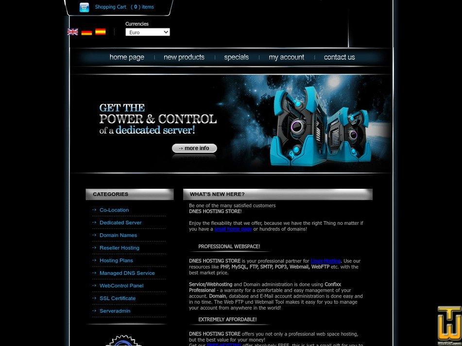 dnes-host.com Screenshot