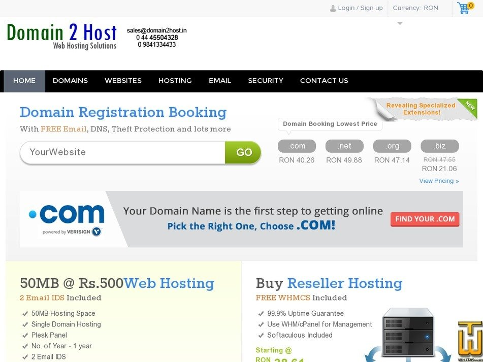 domain2host.info Screenshot