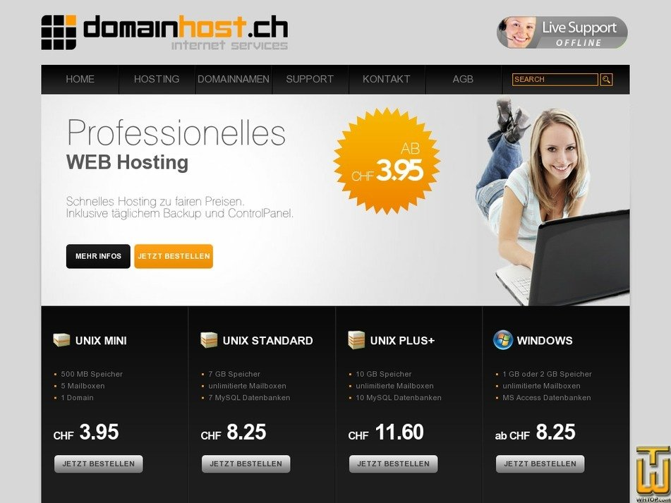 domainhost.ch Screenshot