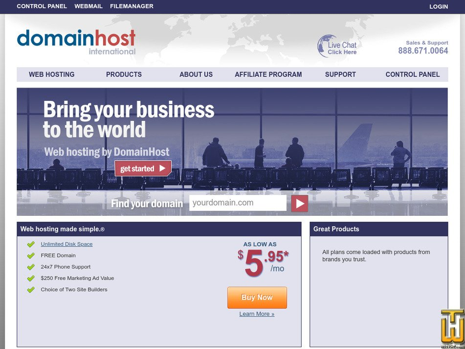 domainhost.com Screenshot