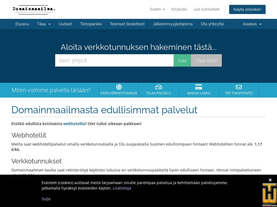 domainmaailma.com Screenshot