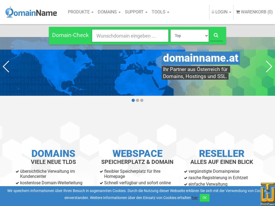 domainname.at Screenshot