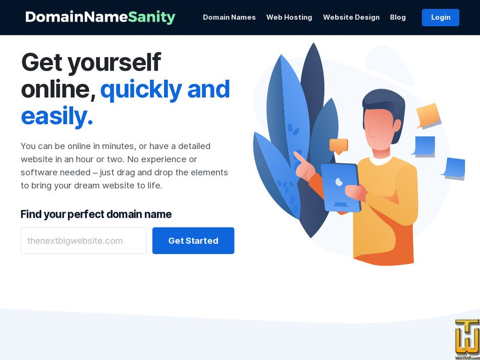 domainnamesanity.com Screenshot
