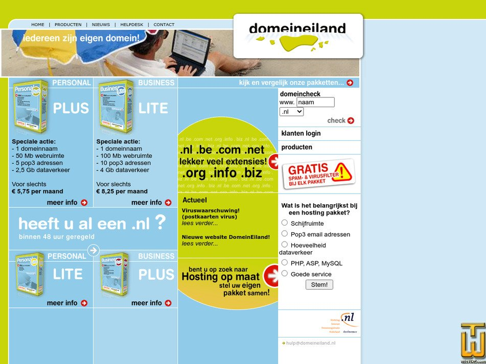domeineiland.nl Screenshot