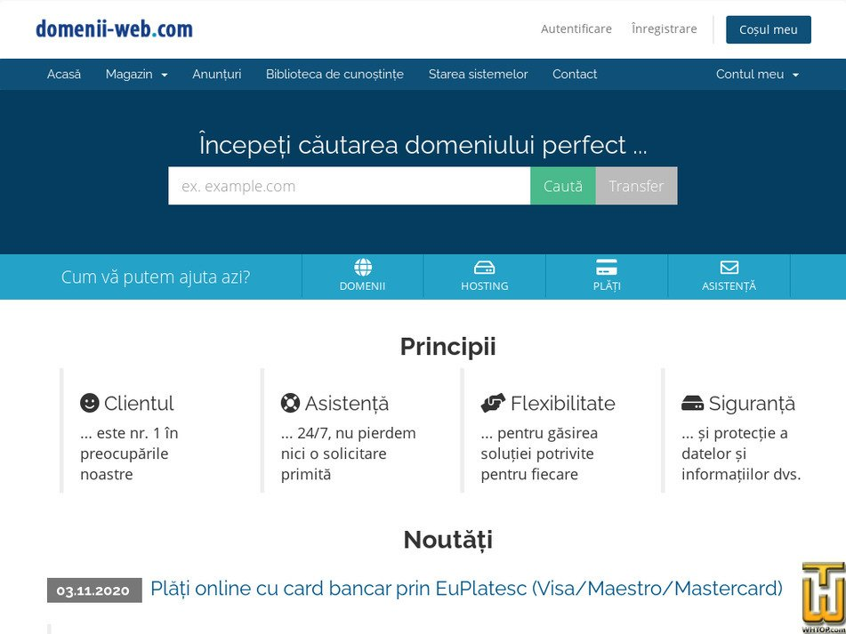 domenii-web.com Screenshot