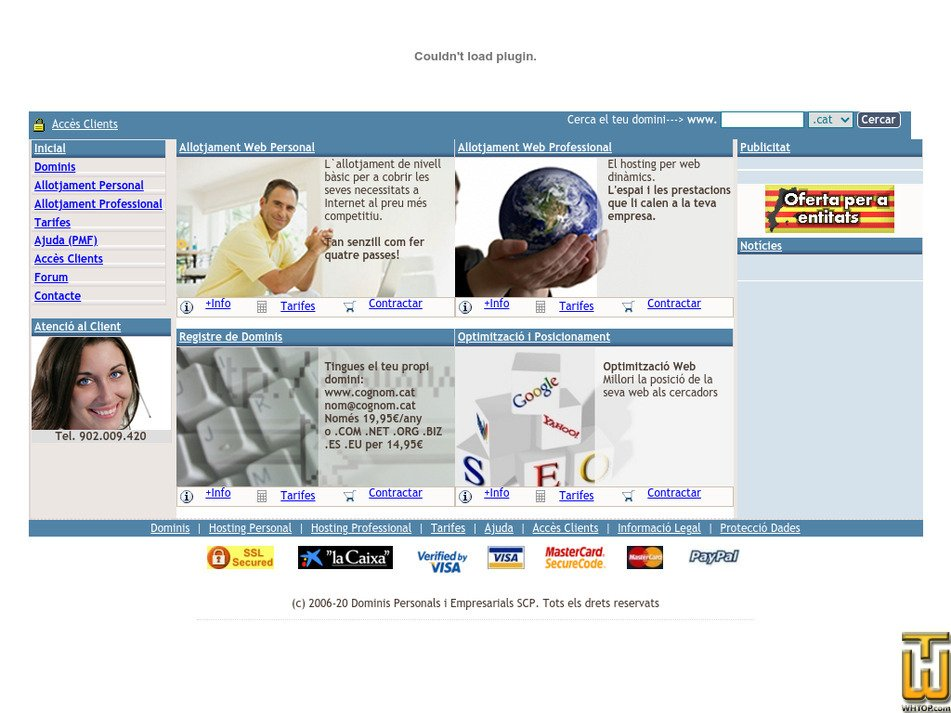 dominispersonals.com Screenshot