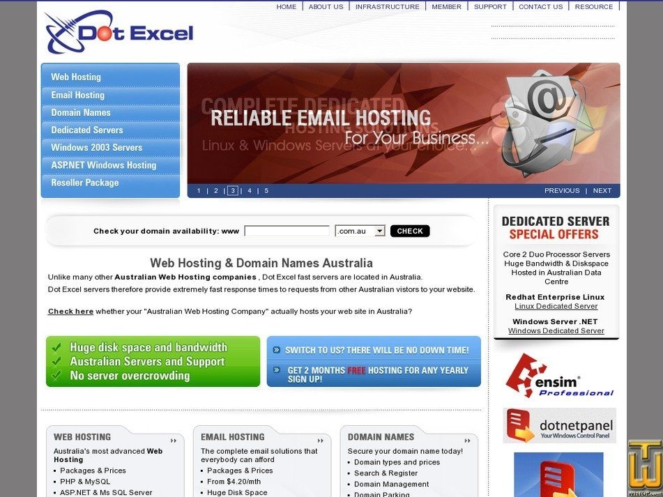dotexcel.com.au Screenshot