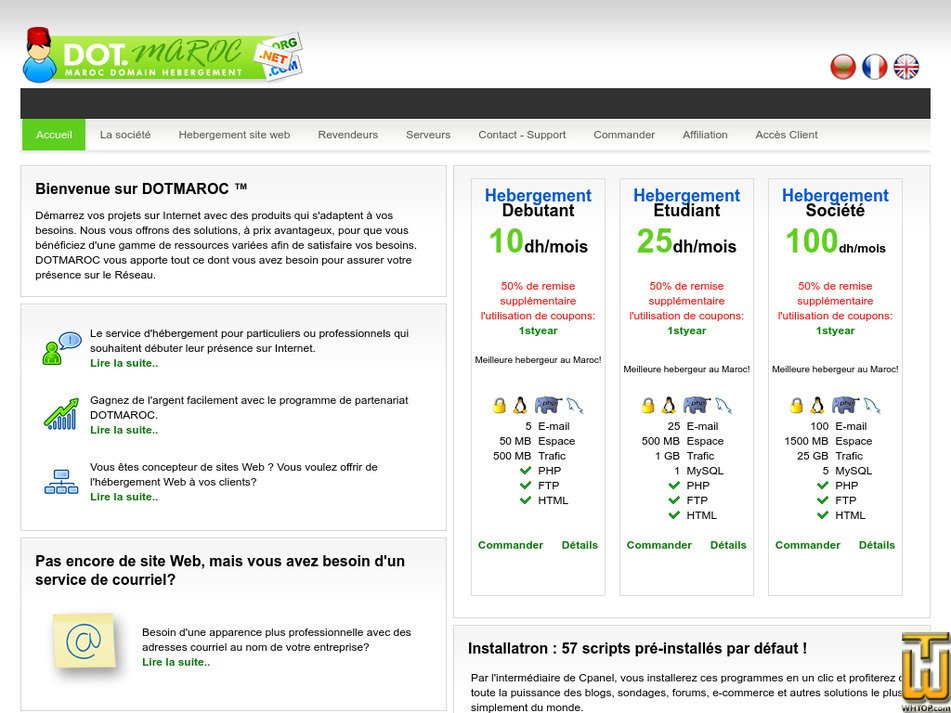 dotmaroc.com Screenshot