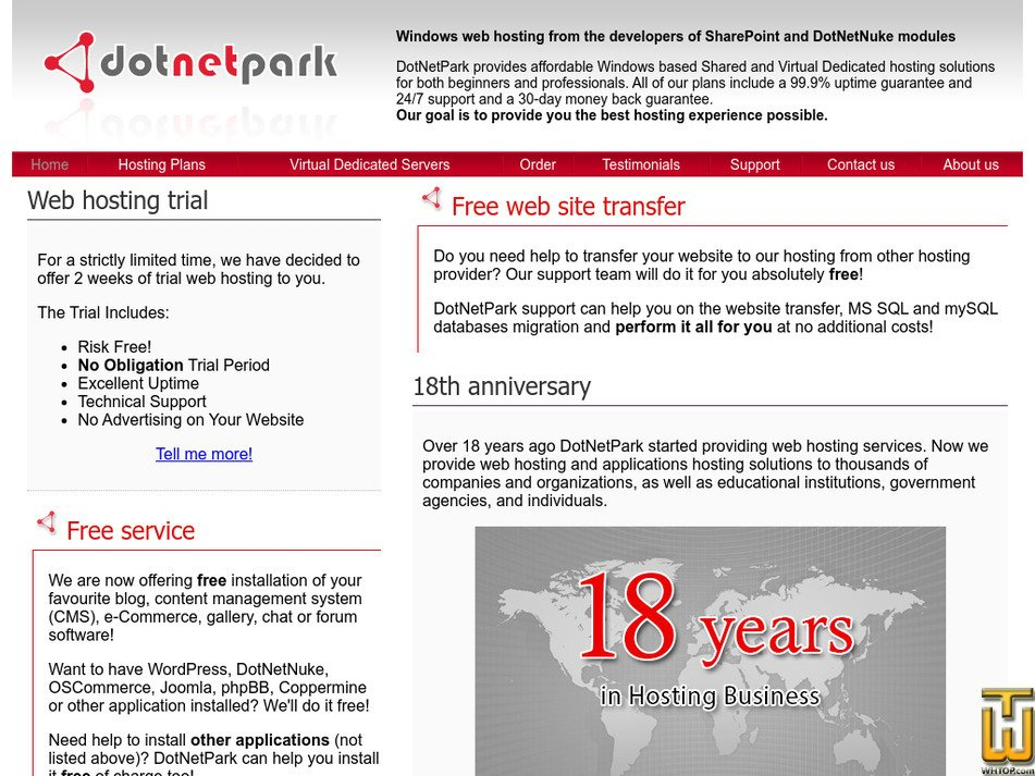 dotnetpark.com Screenshot