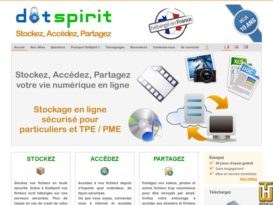 dotspirit.com Screenshot