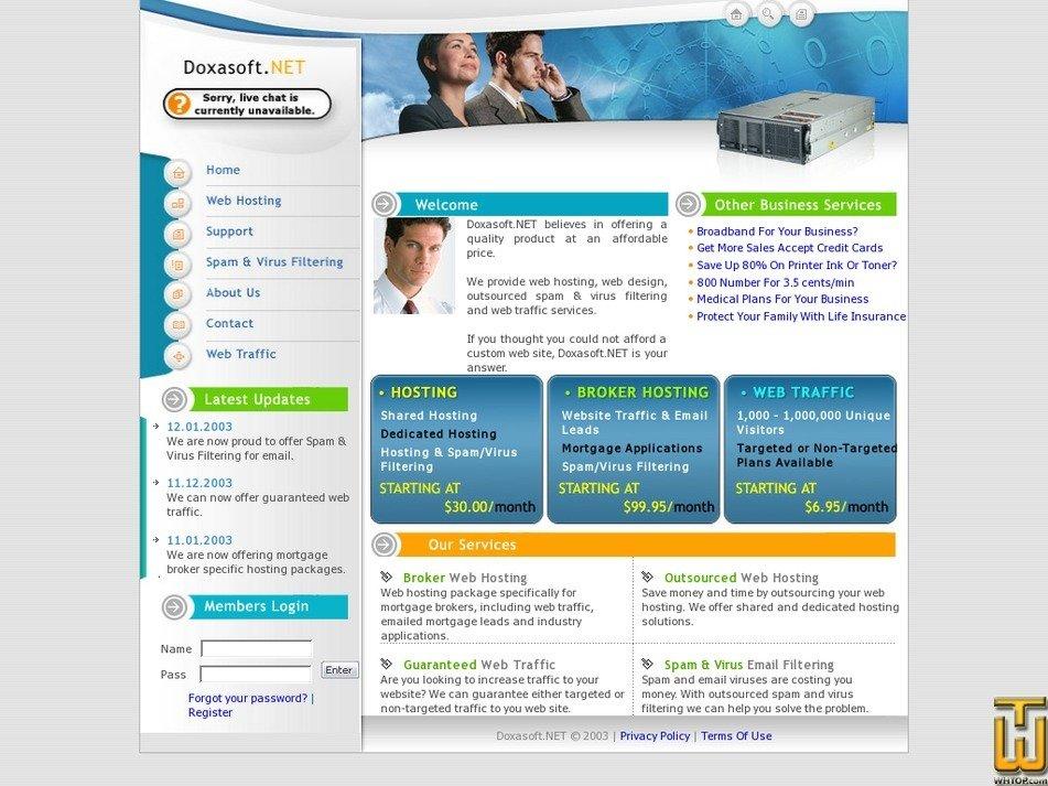 doxasoft.net Screenshot