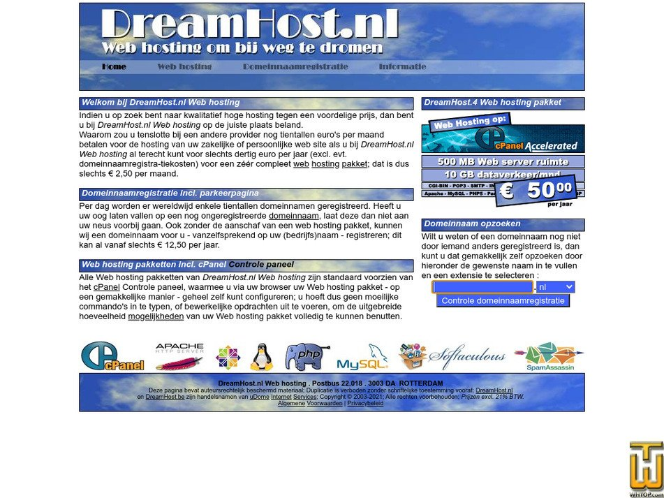dreamhost.nl Screenshot