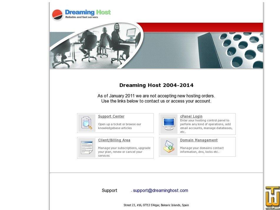 dreaminghost.com Screenshot