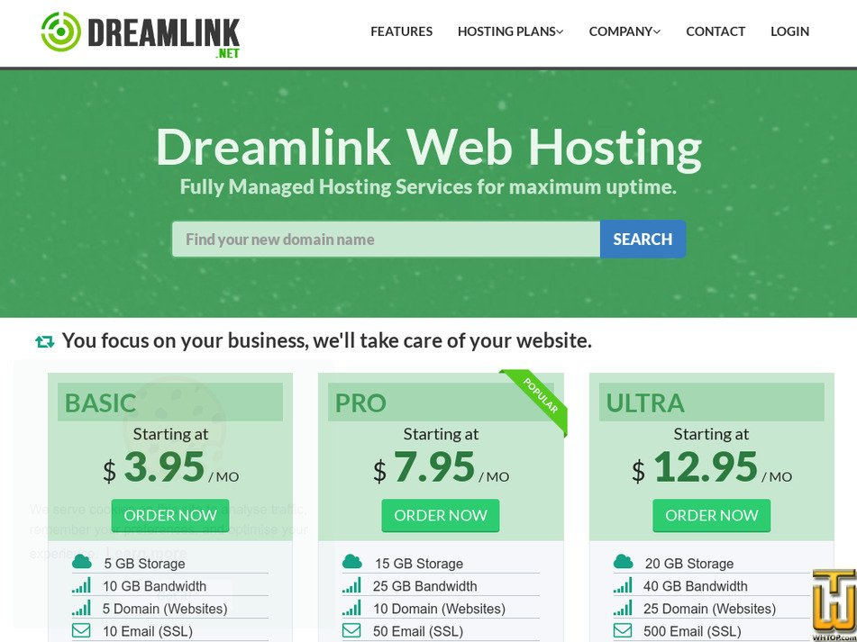dreamlink.net Screenshot