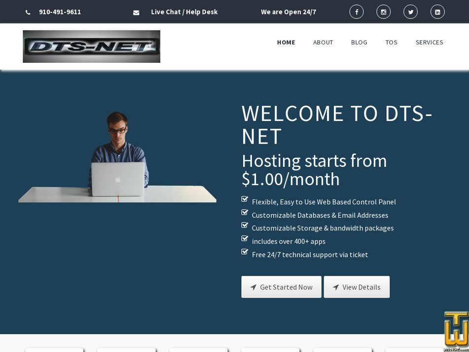 dts-net.com Screenshot