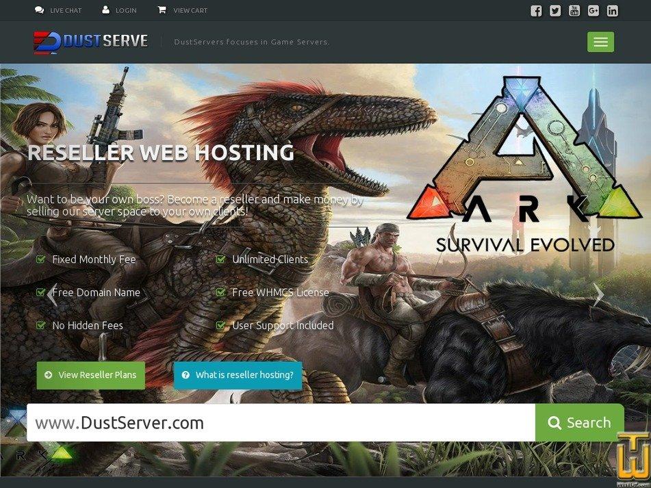 dustservers.com Screenshot