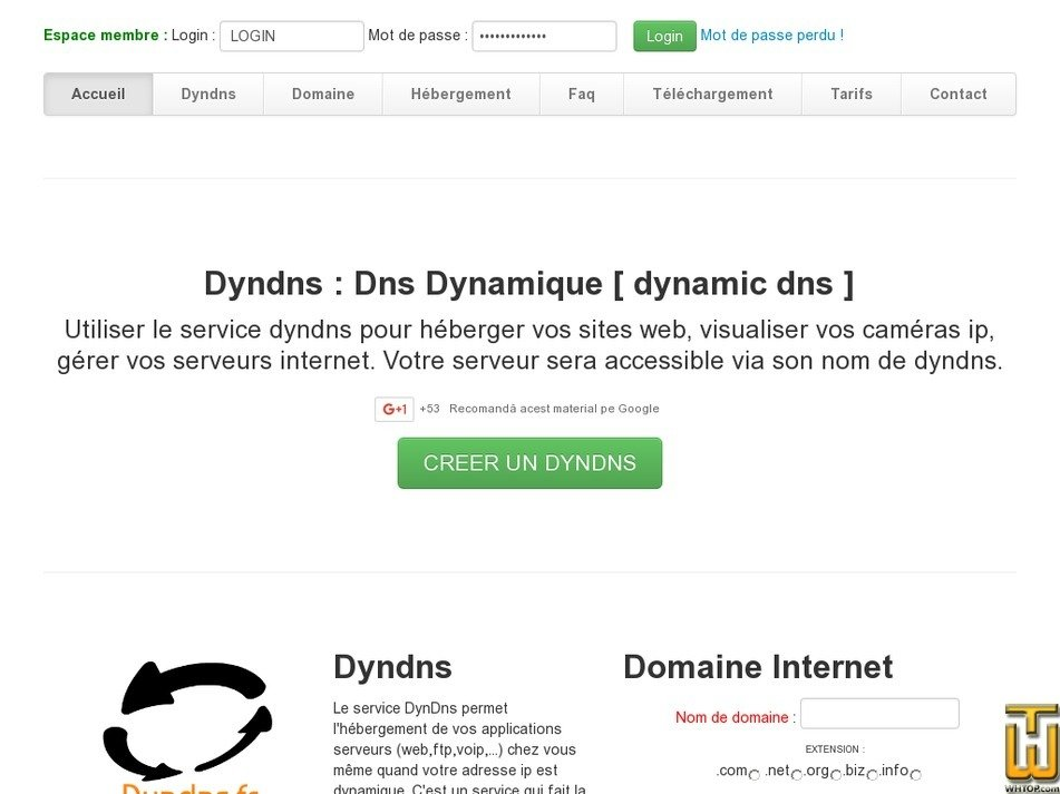 dyndns.fr Screenshot