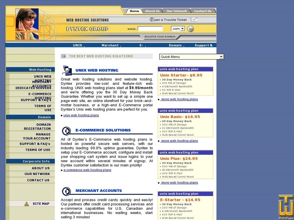 dyntex.com Screenshot