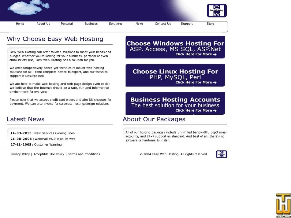 easy-web-hosting.co.uk Screenshot