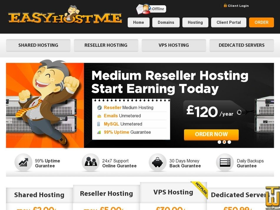 easyhostme.com Screenshot