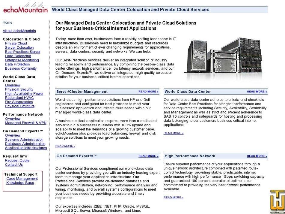 echomountain.com Screenshot