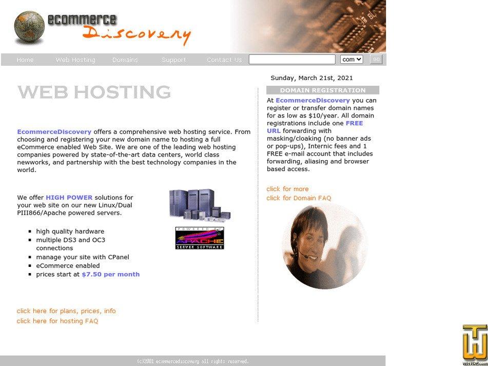 ecommercediscovery.com Screenshot